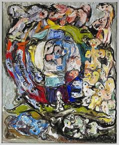 Billedet viser Asger Jorns maleri Livshjulet, opus 4