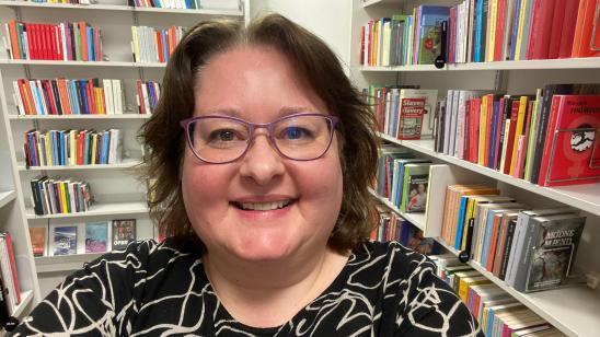 Foto af Ulla Andersen, bibliotekar