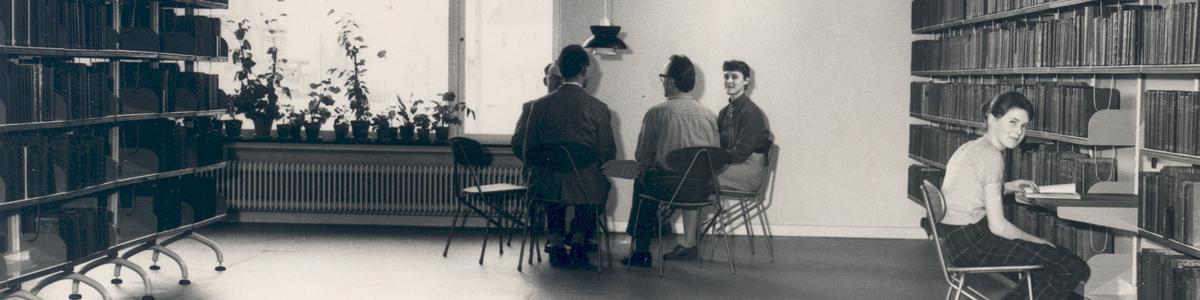 Billedet viser Silkeborg BIbliotek anno 1957