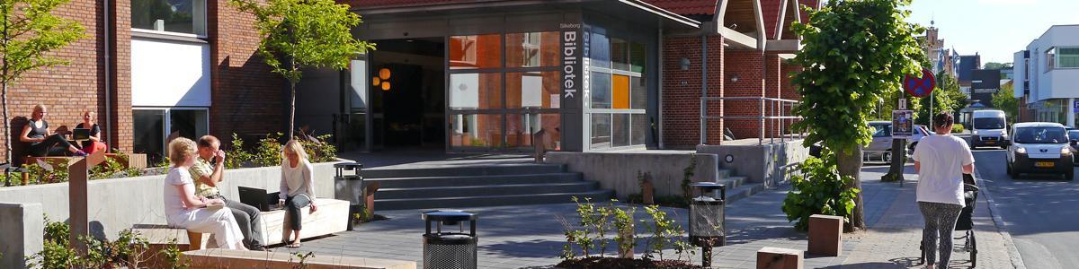 Silkeborg biblioteks hovedindgang