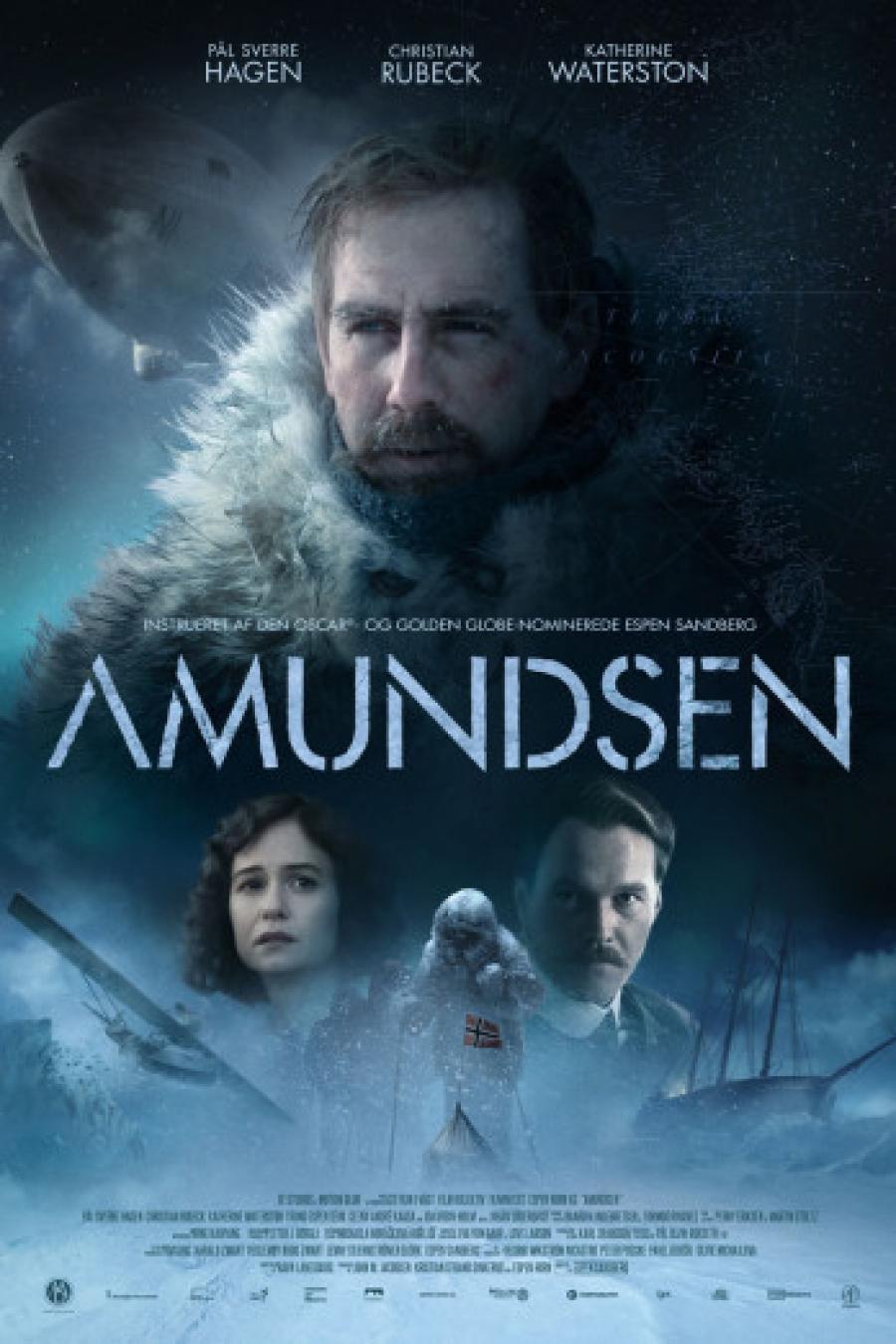 Biografplakat med den norske film Amundsen