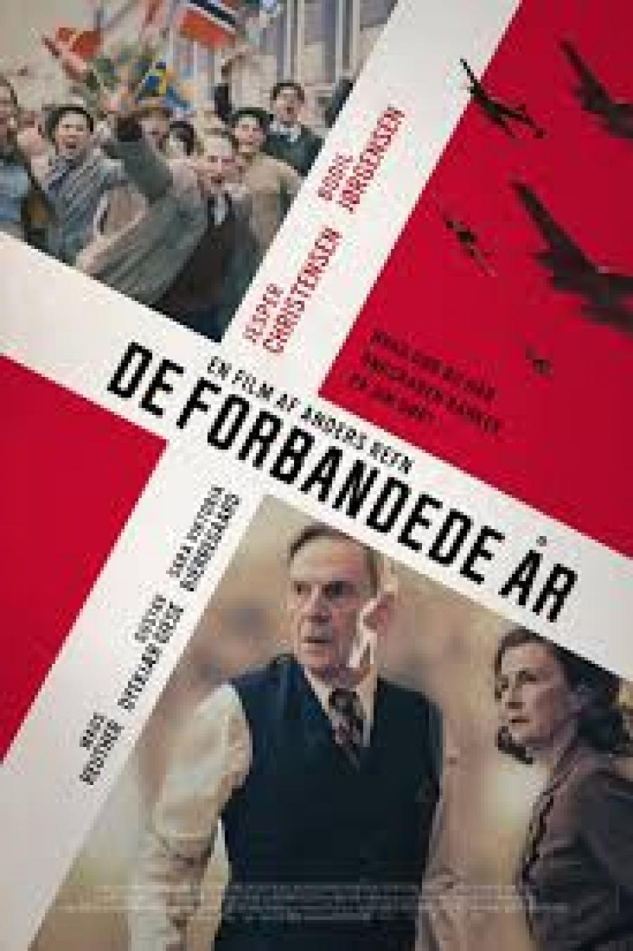Biografplakat med den danske film De forbandede år