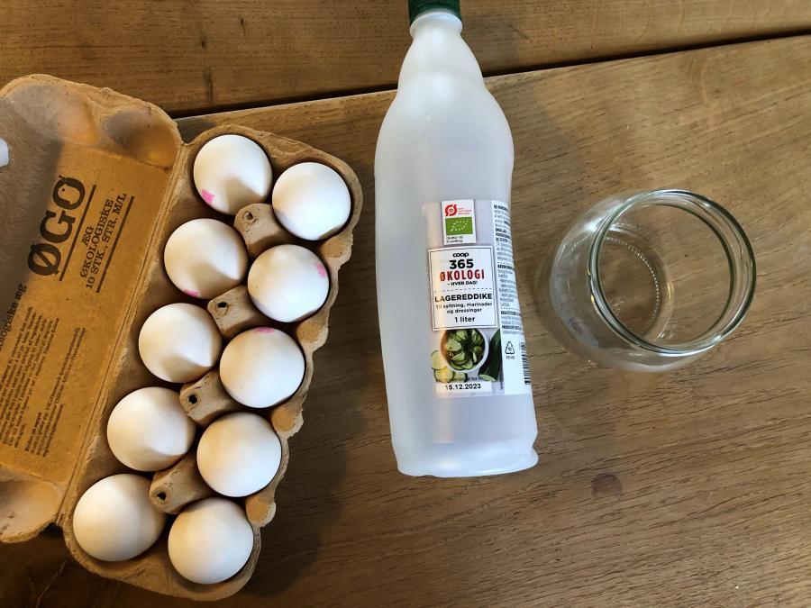 æg eddike glas