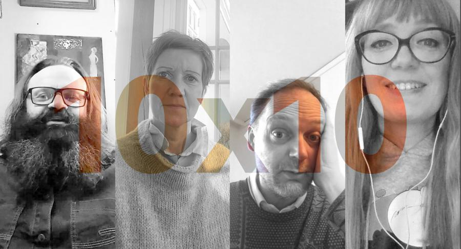 4 billeder af danske forfattere