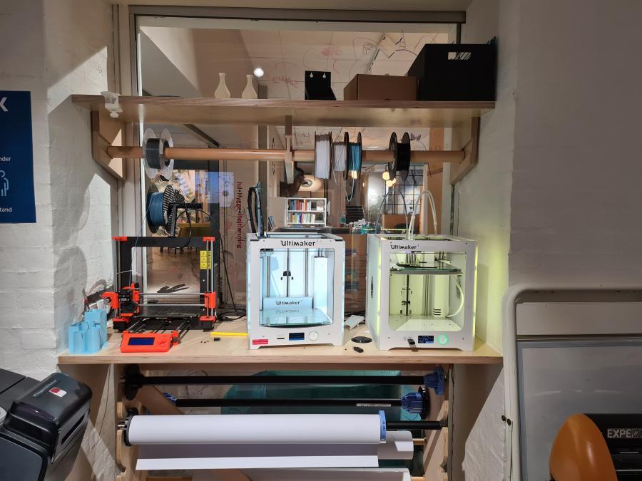 3D printerne i Makerspace på Silkeborg bibliotek