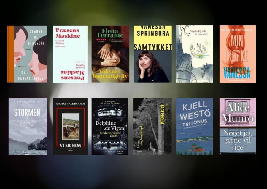 Billeder af forskellige romaner