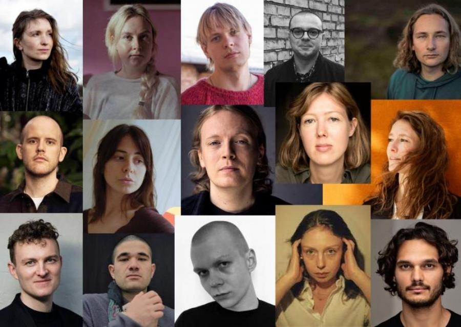 Collage med protrætter af årets debutanter