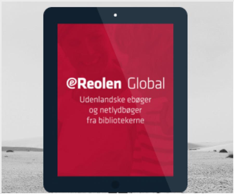 Tablet der har åbnet ereolen global
