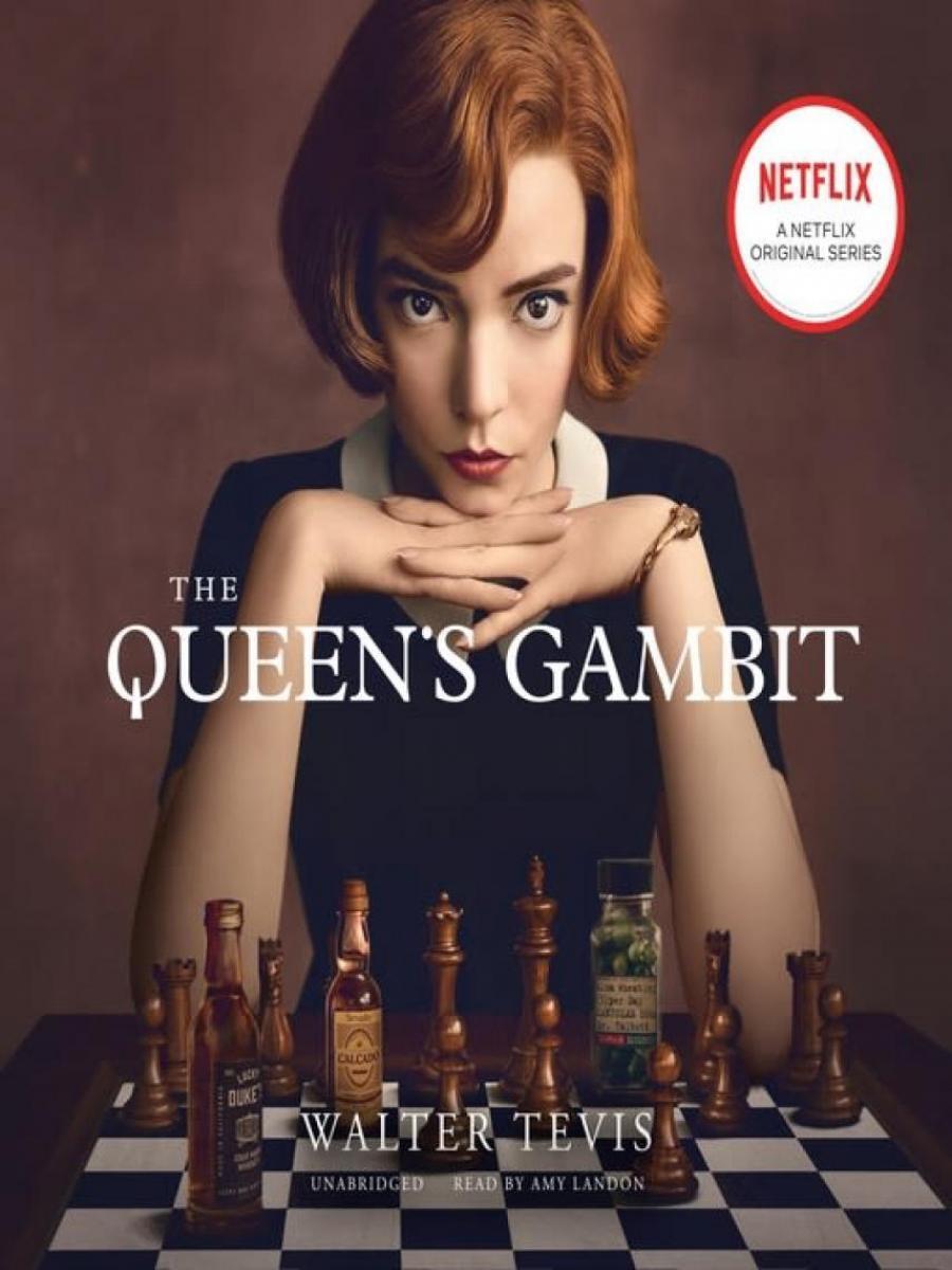 Forsiden af bogen Queen's gambit
