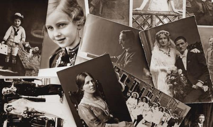 gamle sort/hivde portrætfotografier